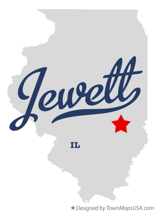 Map of Jewett Illinois IL