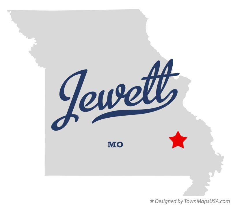 Map of Jewett Missouri MO