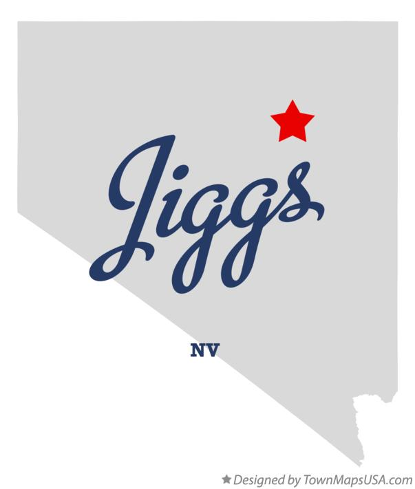 Map of Jiggs Nevada NV