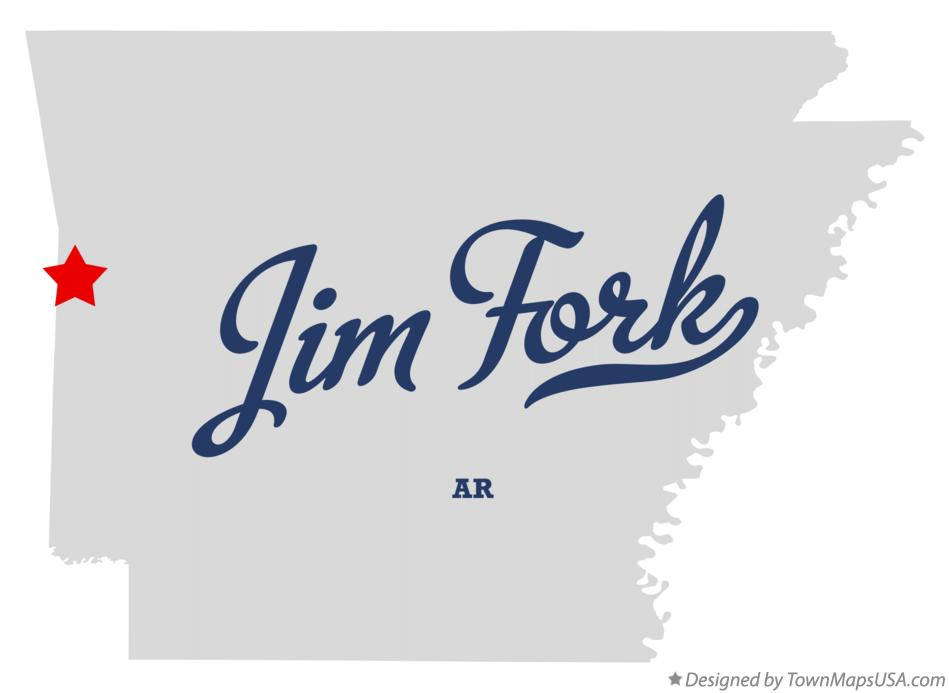 Map of Jim Fork Arkansas AR