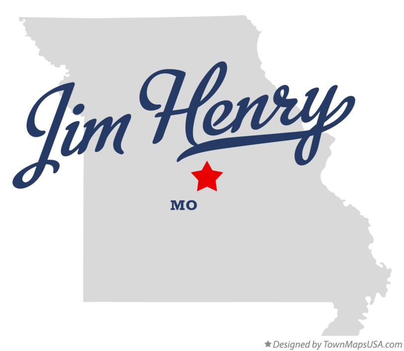 Map of Jim Henry Missouri MO