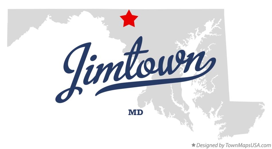 Map of Jimtown Maryland MD