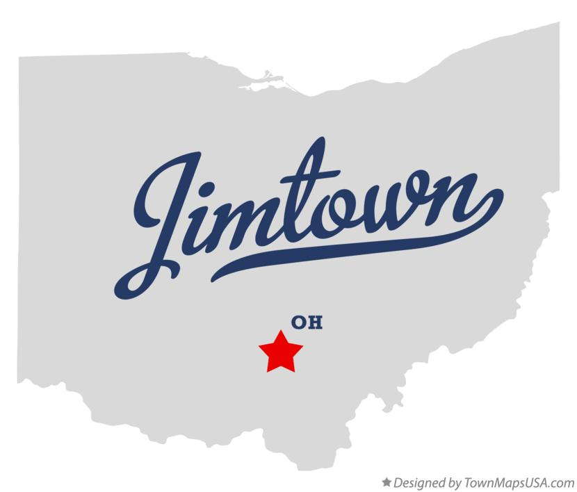Map of Jimtown Ohio OH