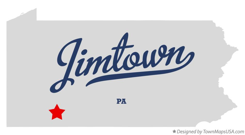 Map of Jimtown Pennsylvania PA