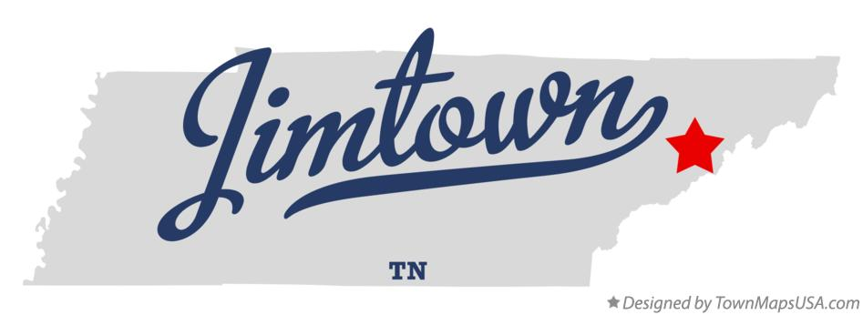Map of Jimtown Tennessee TN