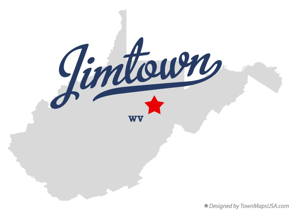 Map of Jimtown West Virginia WV