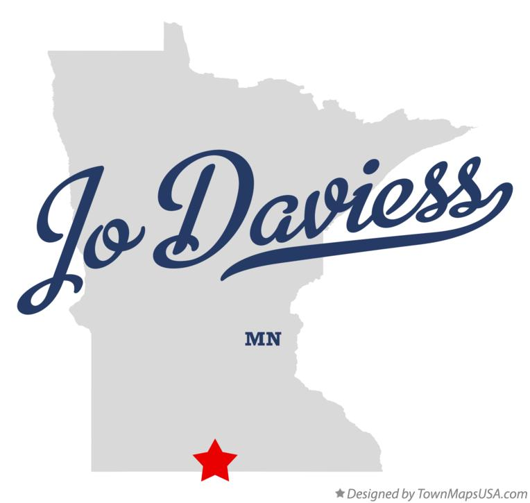 Map of Jo Daviess Minnesota MN