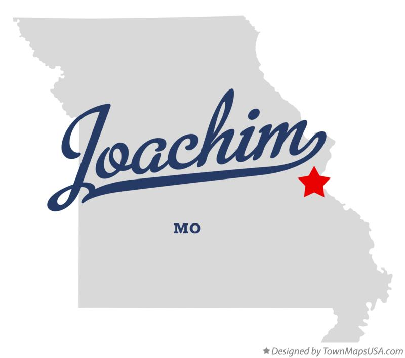 Map of Joachim Missouri MO