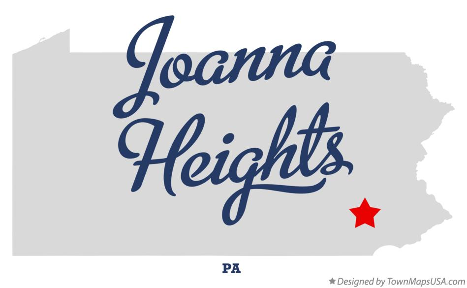 Map of Joanna Heights Pennsylvania PA