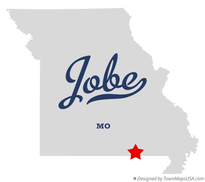 Map of Jobe Missouri MO