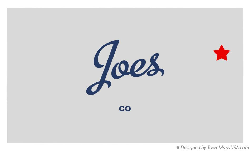 Map of Joes Colorado CO