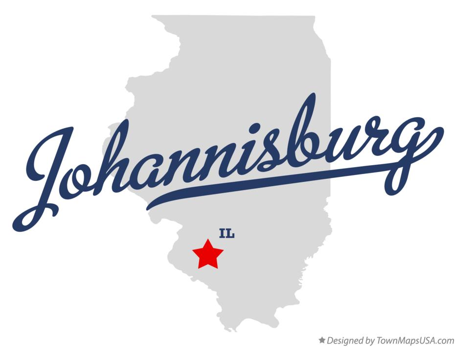 Map of Johannisburg Illinois IL