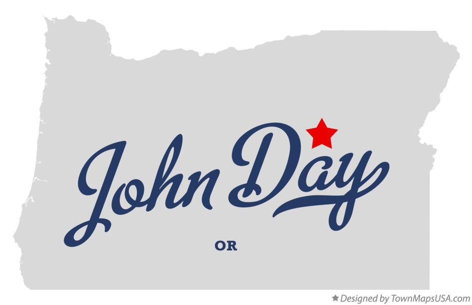 Map of John Day Oregon OR