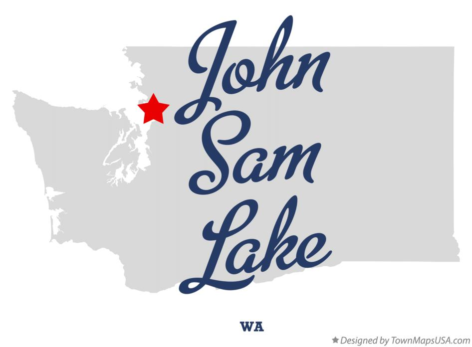 Map of John Sam Lake Washington WA