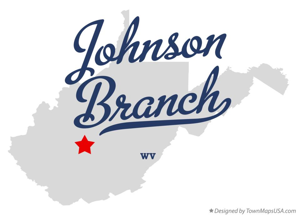 Map of Johnson Branch West Virginia WV