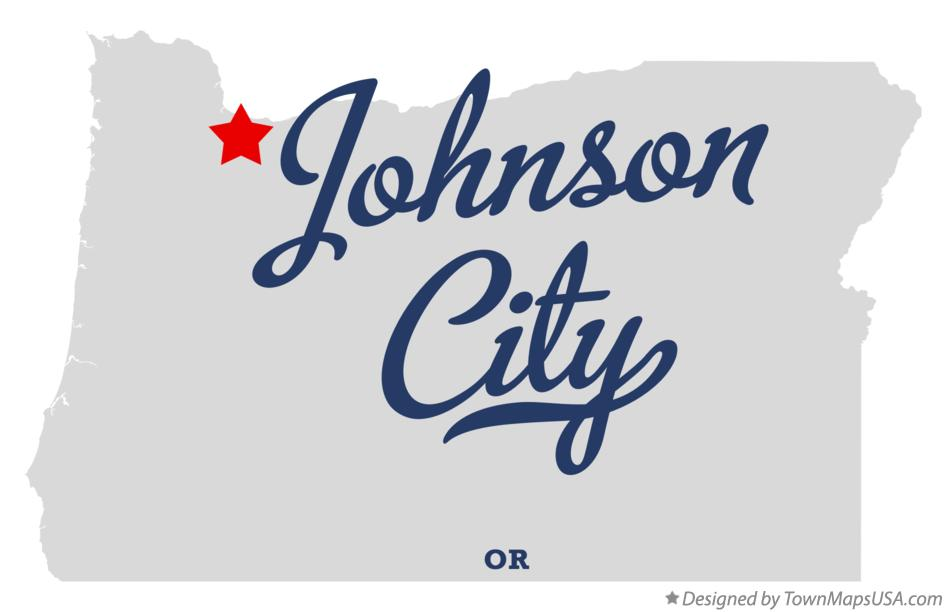 Map of Johnson City Oregon OR