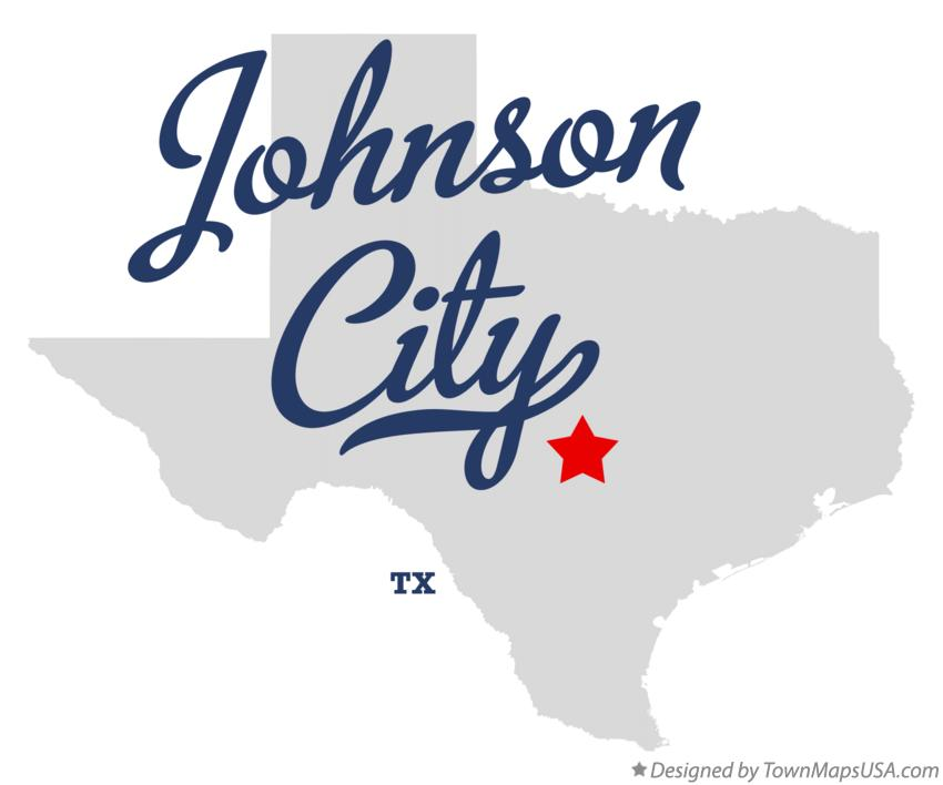 Map of Johnson City Texas TX