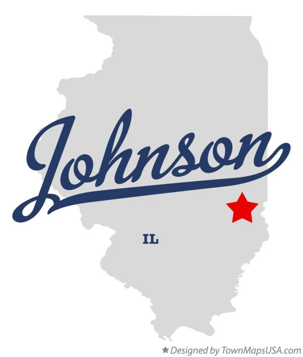 Map of Johnson Illinois IL