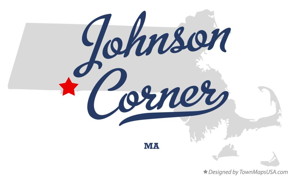Map of Johnson Corner Massachusetts MA