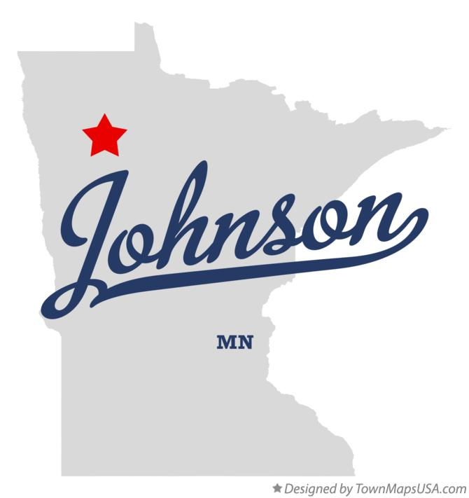 Map of Johnson Minnesota MN