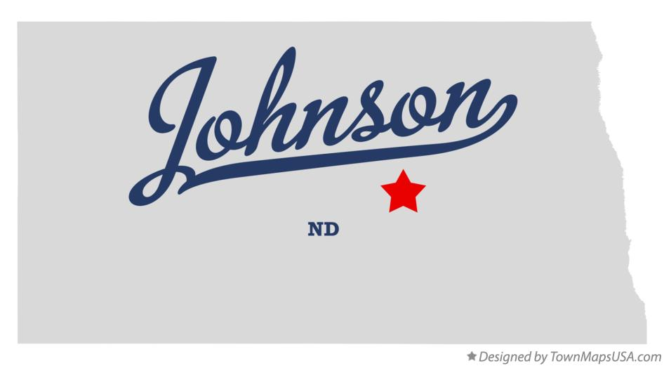 Map of Johnson North Dakota ND