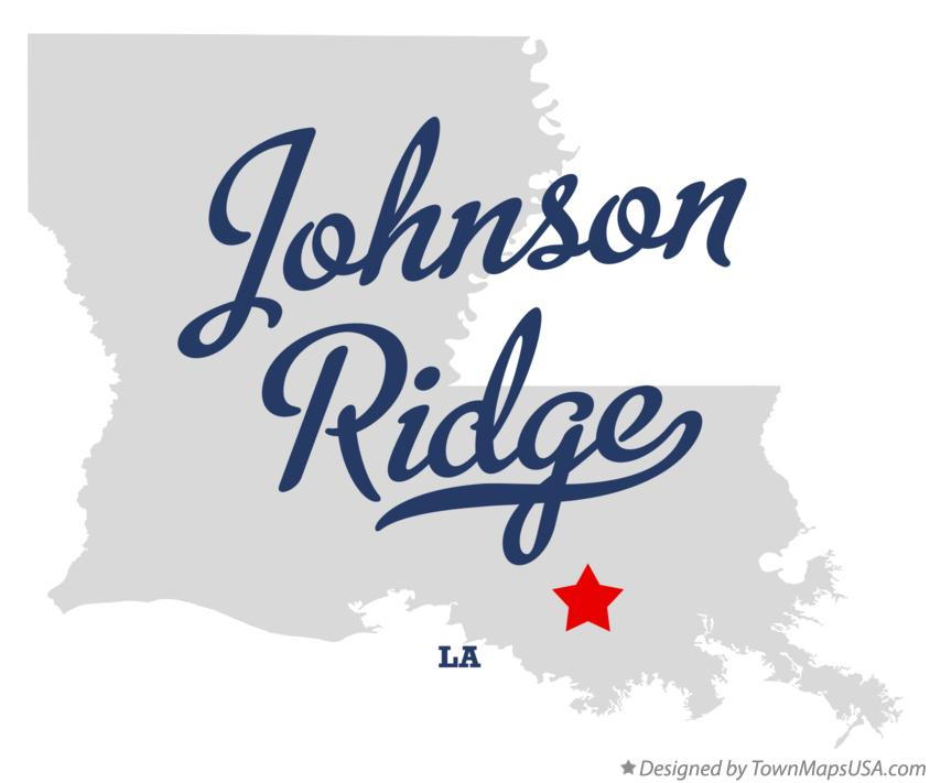 Map of Johnson Ridge Louisiana LA