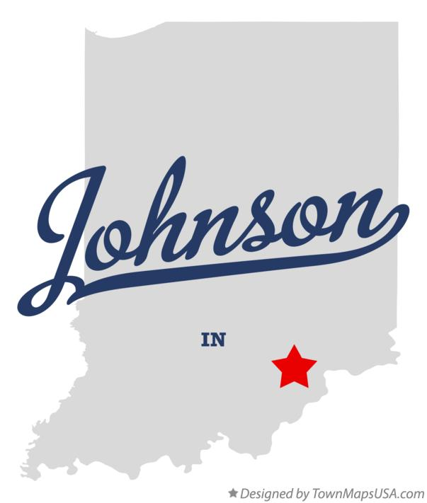 Map of Johnson Indiana IN