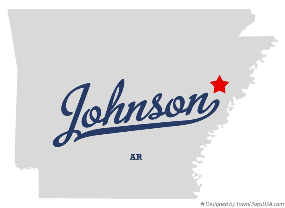 Map of Johnson Arkansas AR
