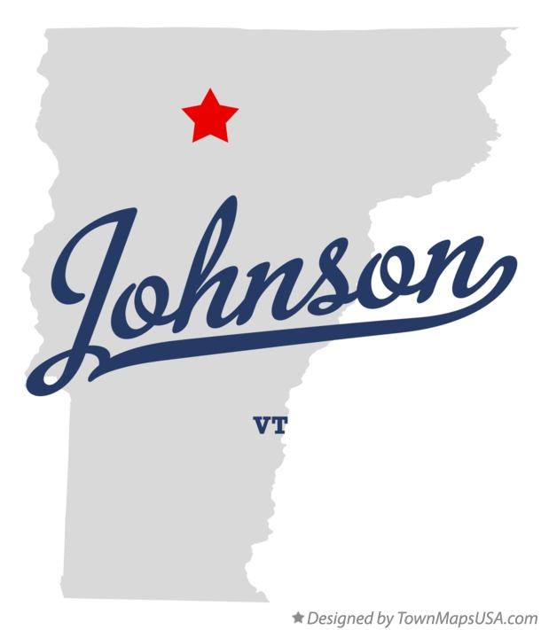 Map of Johnson Vermont VT