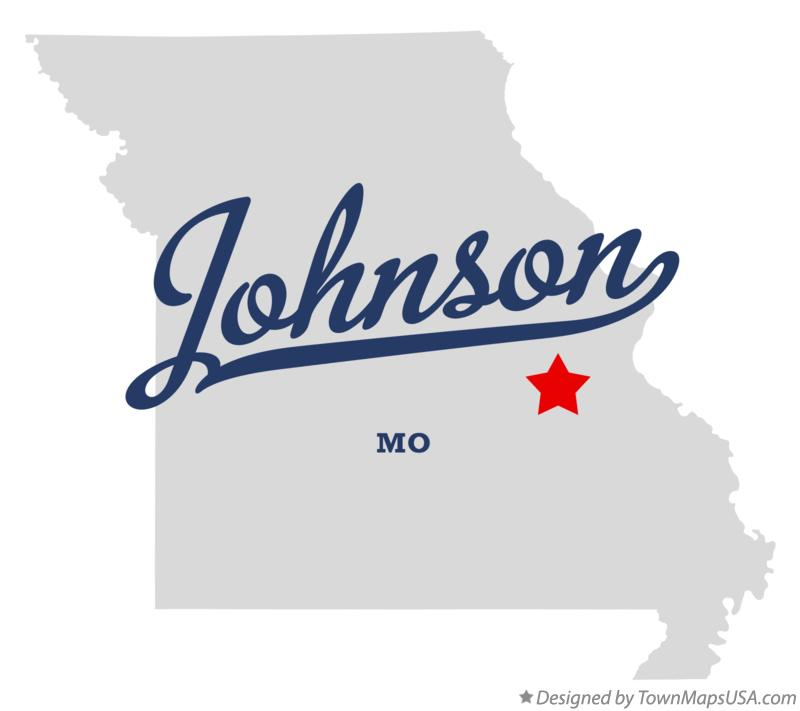 Map of Johnson Missouri MO