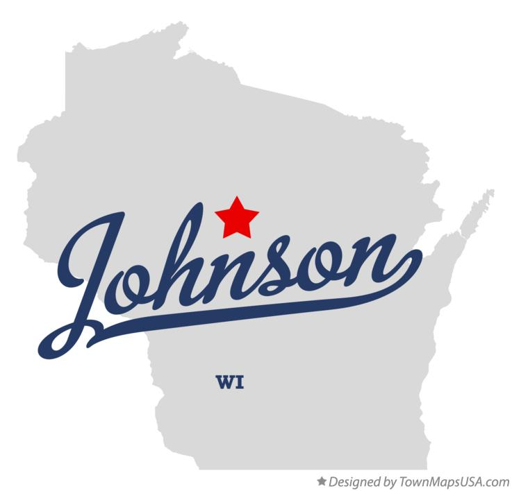 Map of Johnson Wisconsin WI