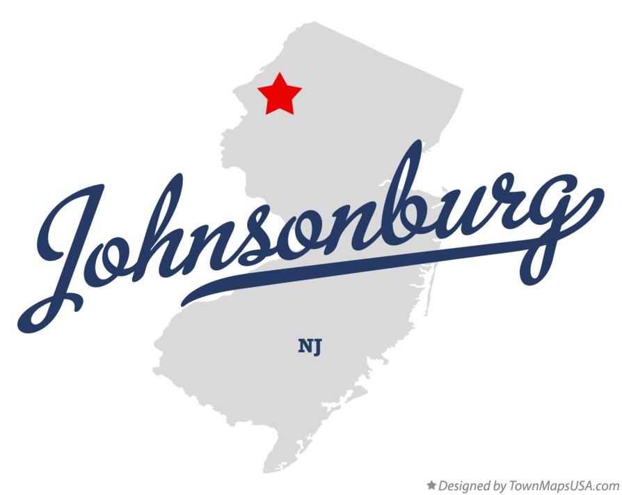 Map of Johnsonburg New Jersey NJ