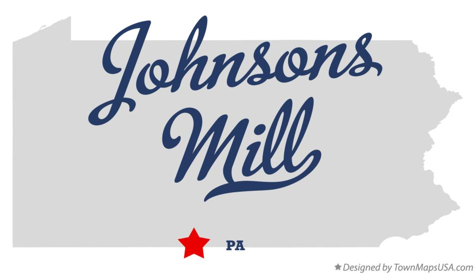 Map of Johnsons Mill Pennsylvania PA