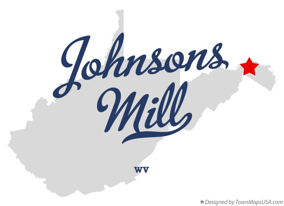 Map of Johnsons Mill West Virginia WV