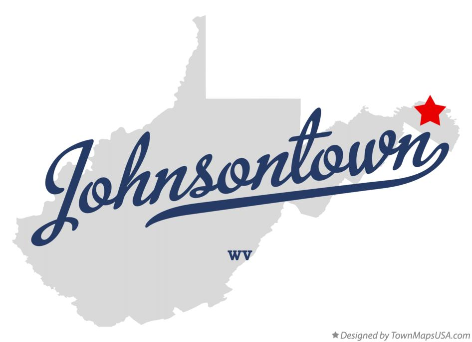 Map of Johnsontown West Virginia WV