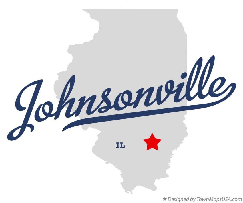 Map of Johnsonville Illinois IL