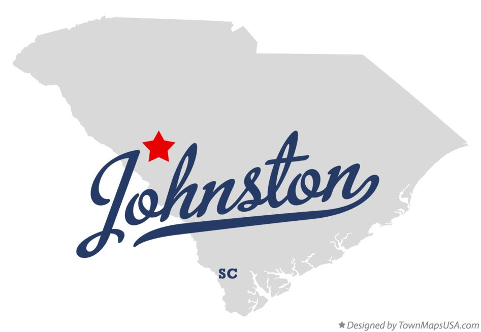 Map of Johnston South Carolina SC