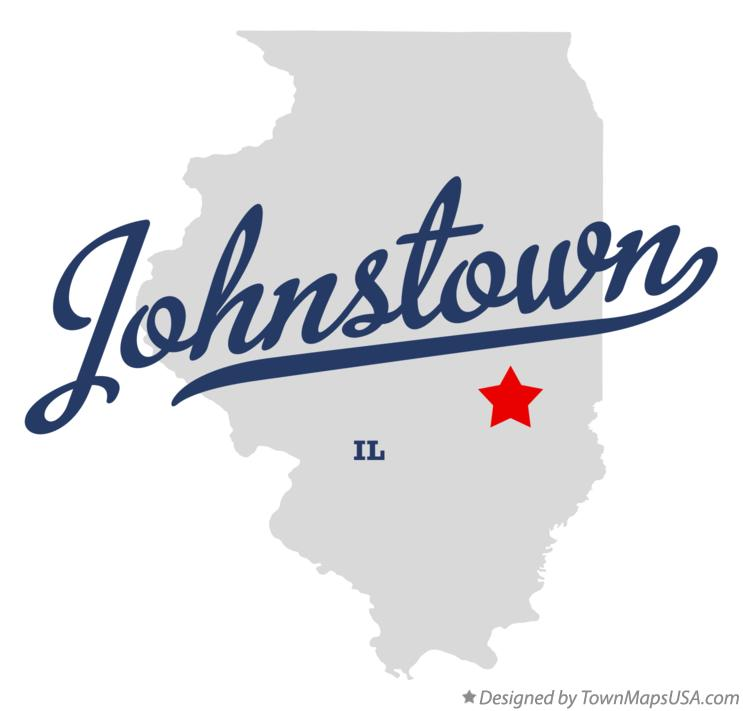 Map of Johnstown Illinois IL
