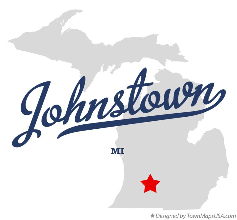 Map of Johnstown Michigan MI