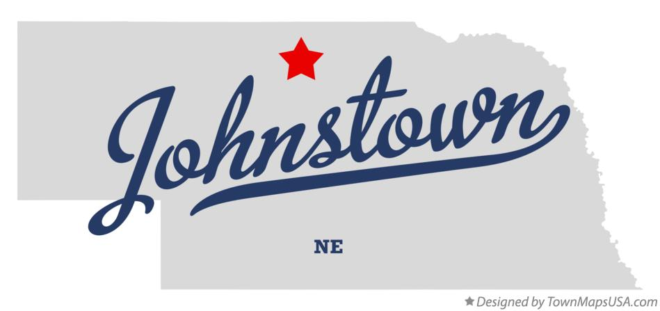 Map of Johnstown Nebraska NE