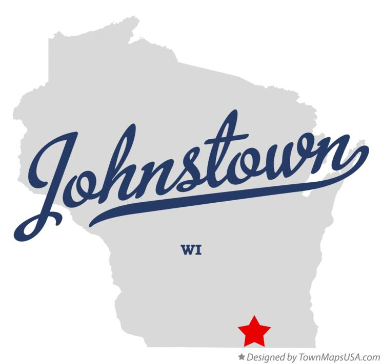 Map of Johnstown Wisconsin WI