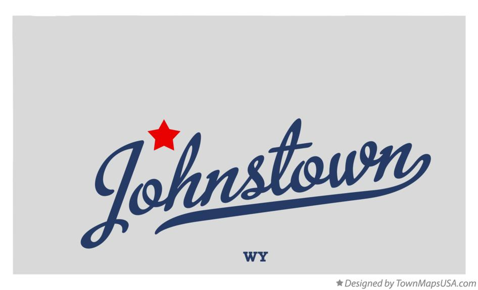 Map of Johnstown Wyoming WY