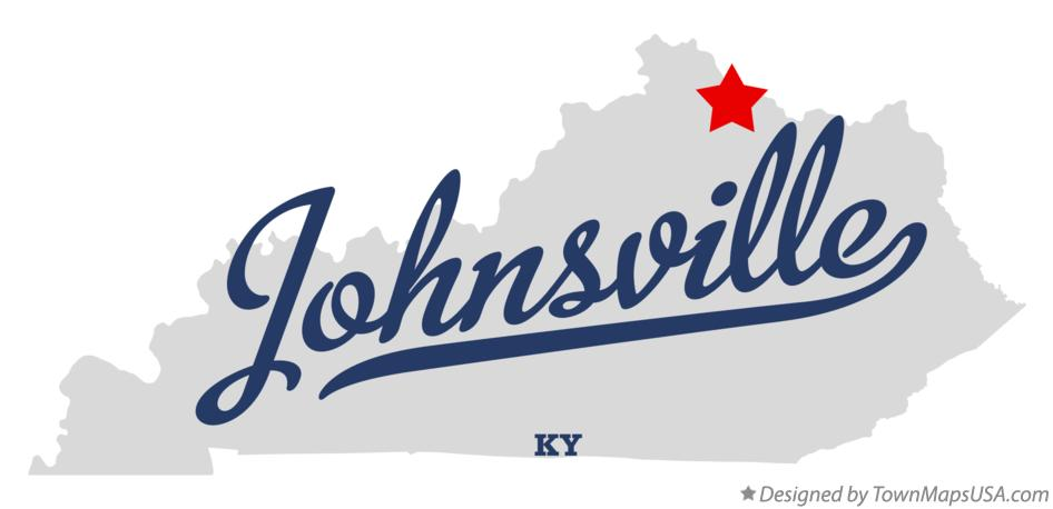 Map of Johnsville Kentucky KY
