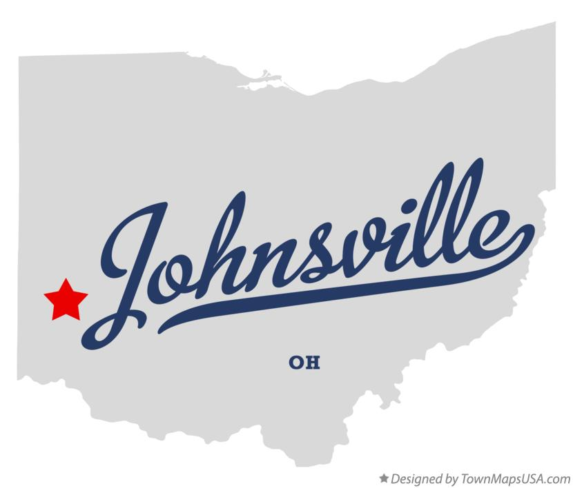 Map of Johnsville Ohio OH