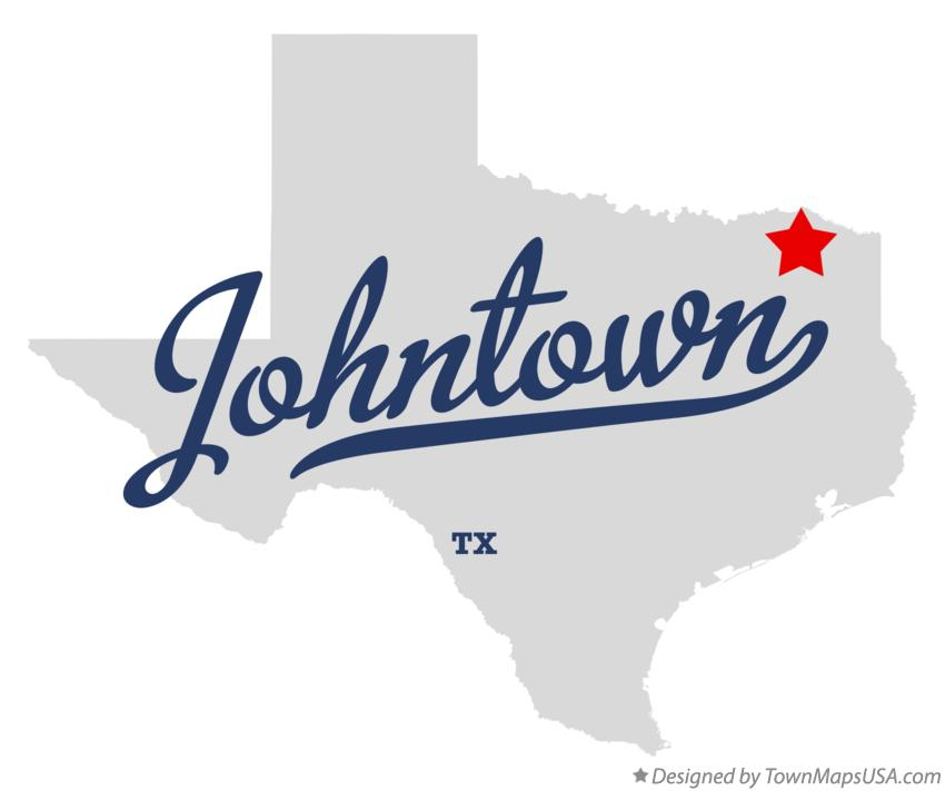 Map of Johntown Texas TX