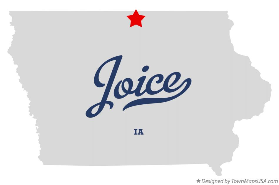 Map of Joice Iowa IA