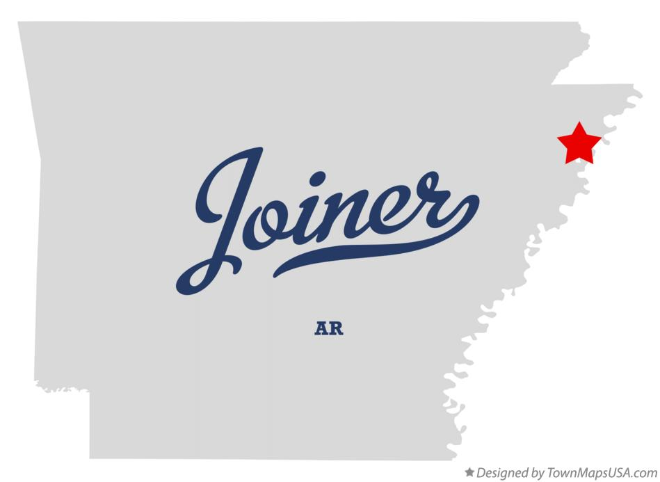 Map of Joiner Arkansas AR