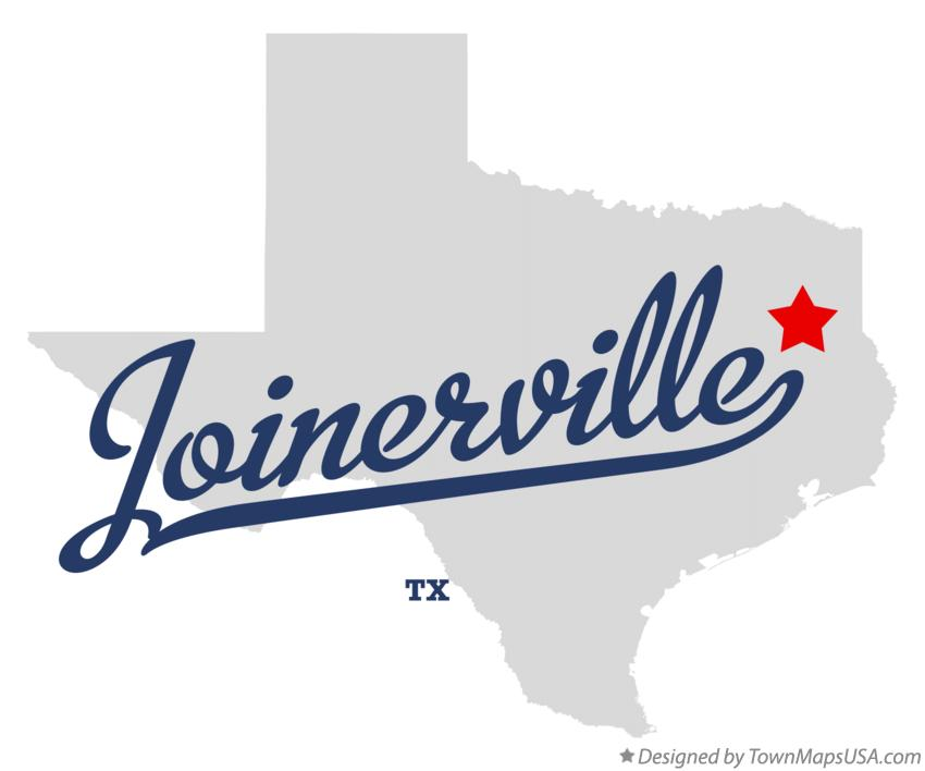Map of Joinerville Texas TX