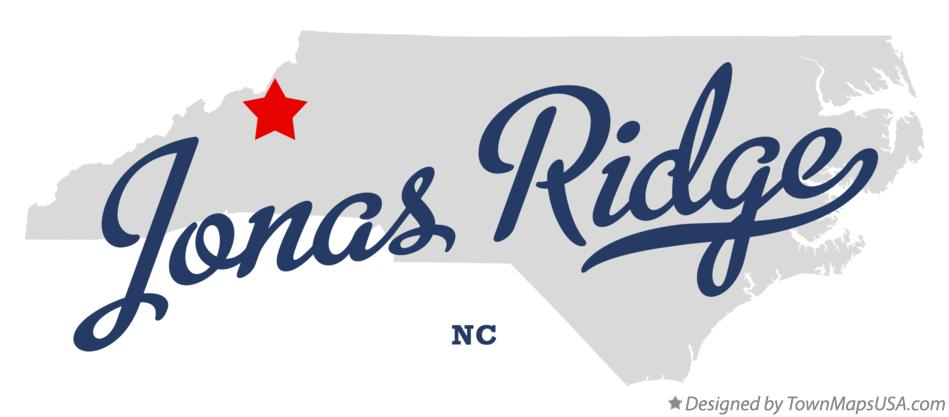 Map of Jonas Ridge North Carolina NC