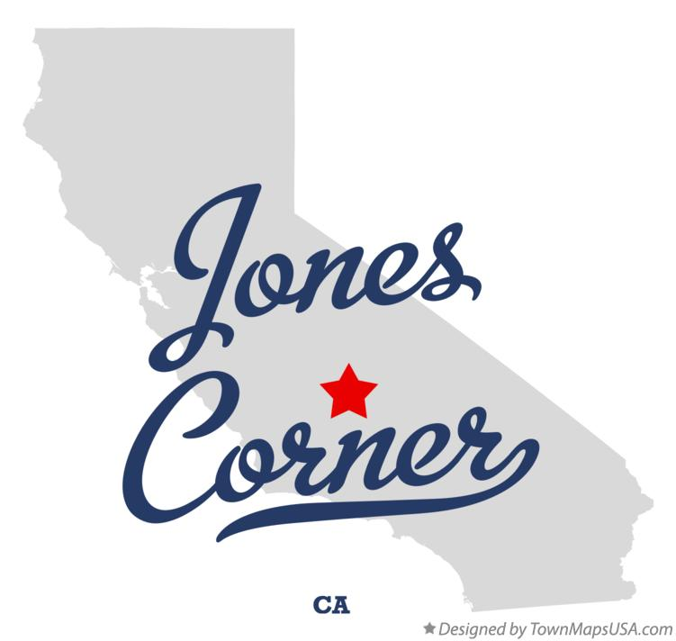 Map of Jones Corner California CA